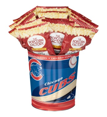 Chicago Cubs 3-Flavor Popcorn Tins - 3 Gallon