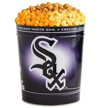 Chicago White Sox 3-Flavor Popcorn Tins - 3 Gallon