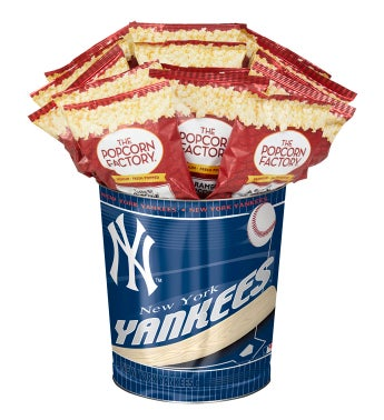 New York Yankees 3-Flavor Popcorn Tins - 3 Gallon