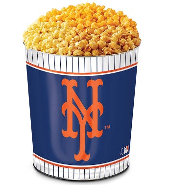 New York Mets 3-Flavor Popcorn Tins - 3 Gallon