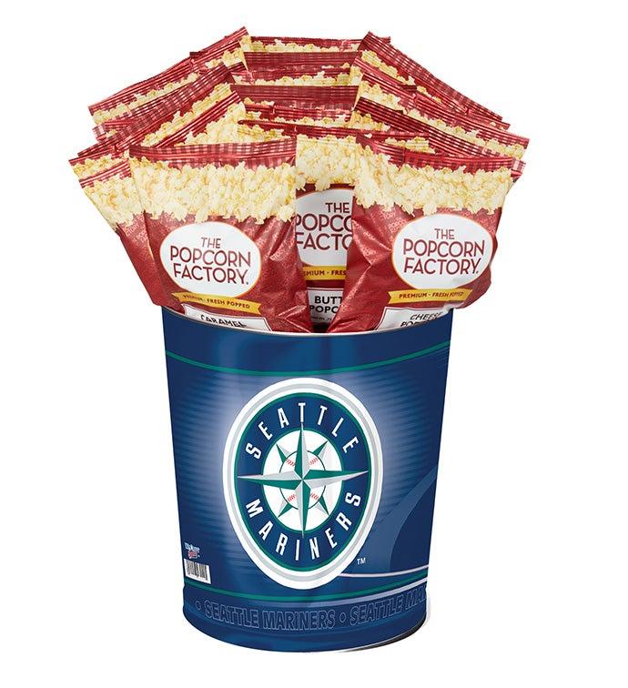 Seattle Mariners 3-Flavor Popcorn Tins - 3 Gallon