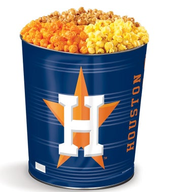 Houston Astros 3-Flavor Popcorn Tins