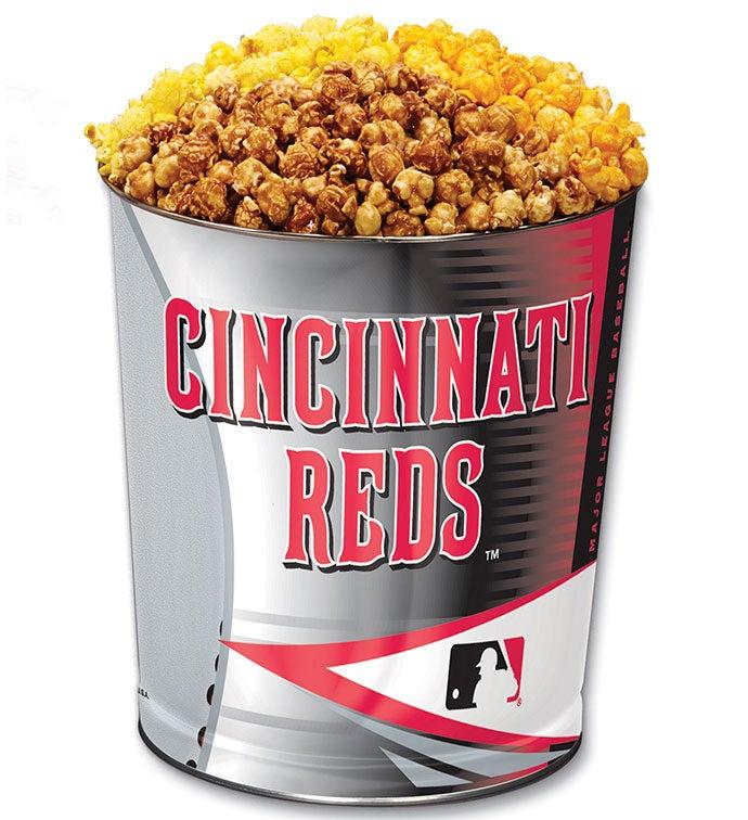 Cincinnati Reds 3-Flavor Popcorn Tins - 3 Gallon