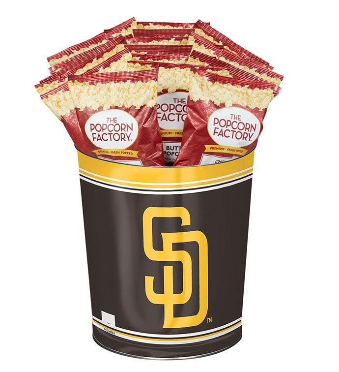 San Diego Padres 3-Flavor Popcorn Tins - 3 Gallon