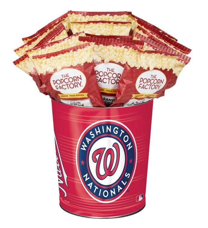 Washington Nationals Flavor Popcorn Tins