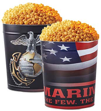 US Marines Popcorn Tin