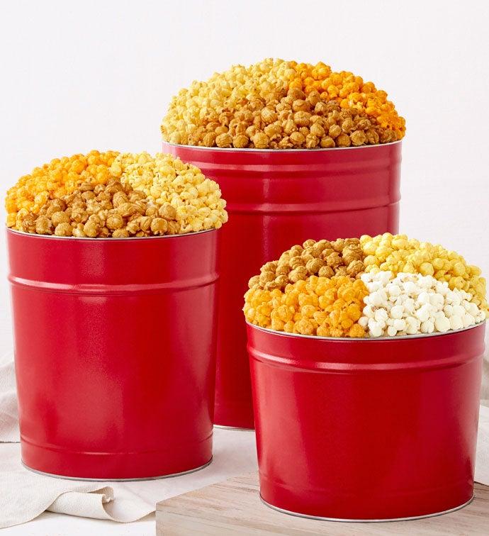 Simply Red Popcorn Tins