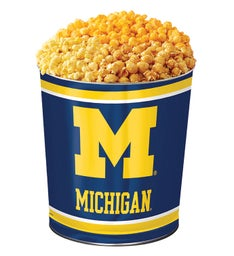 3 Gallon University of Michigan 3 Flavor Popcorn Tins