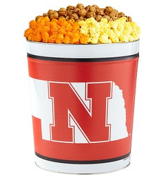 3 Gallon University of Nebraska 3-Flavor Popcorn Tins