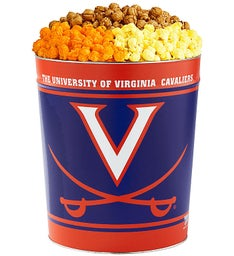 3 Gallon University of Virginia 3-Flavor Popcorn Tins
