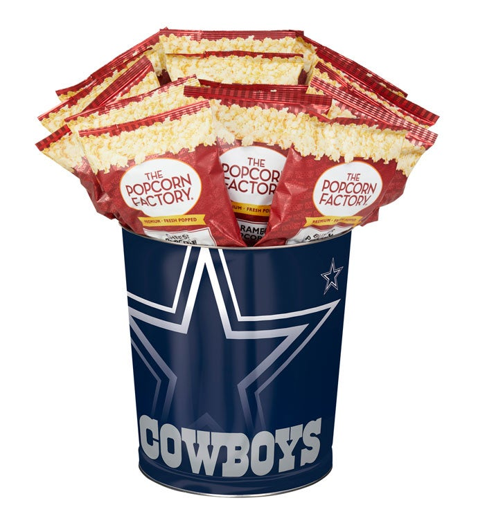Dallas Cowboys 3-Flavor Popcorn Tins