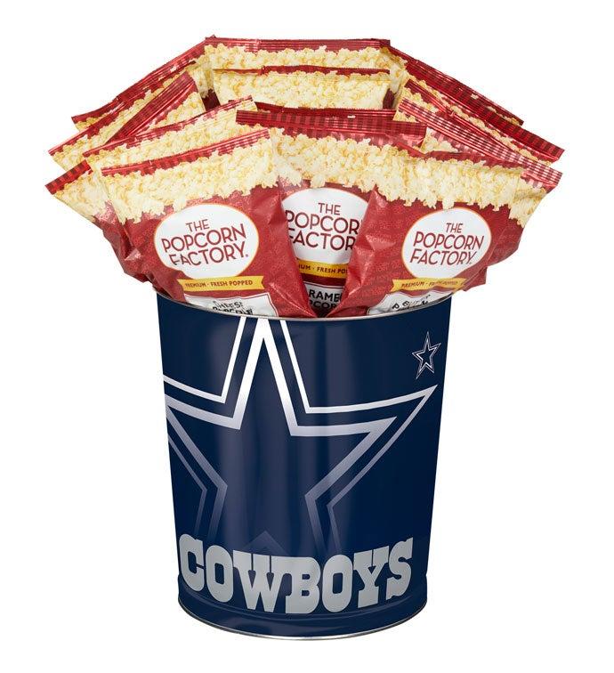 Dallas Cowboys 3-Flavor Popcorn Tins 3-Gallon Flavor by The Popcorn Factory