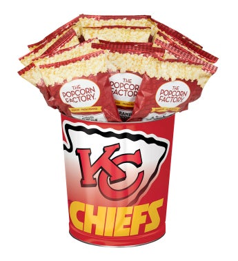 Kansas City Chiefs 3-Flavor Popcorn Tins - 3 Gallon