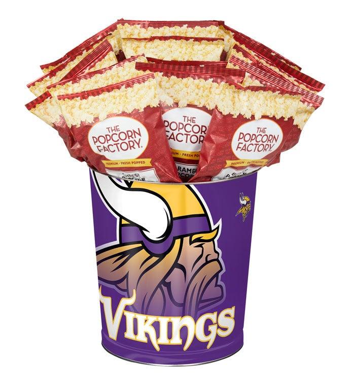 Minnesota Vikings Flavor Popcorn Tins