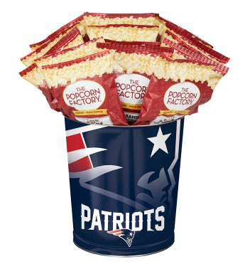 New England Patriots 3-Flavor Popcorn Tins - 3 Gallon