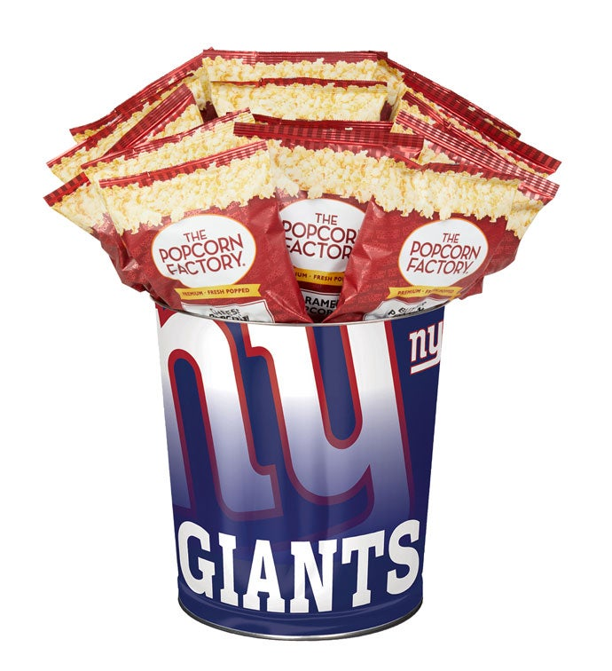 New York Giants Flavor Popcorn Tins