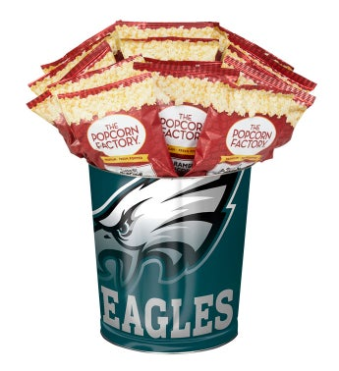 Philadelphia Eagles 3-Flavor Popcorn Tins - 3 Gallon