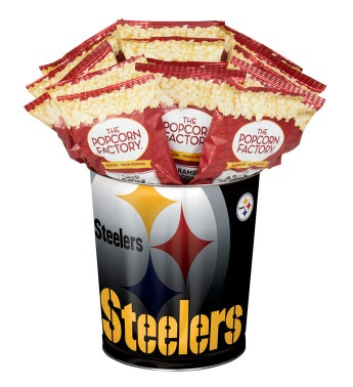Pittsburgh Steelers 3-Flavor Popcorn Tins - 3 Gallon