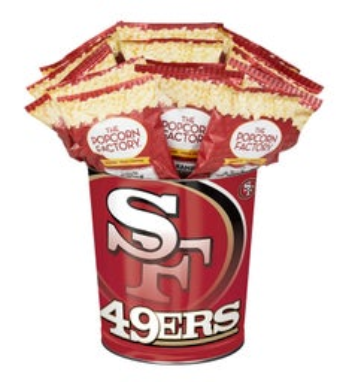 San Francisco ers Flavor Popcorn Tins