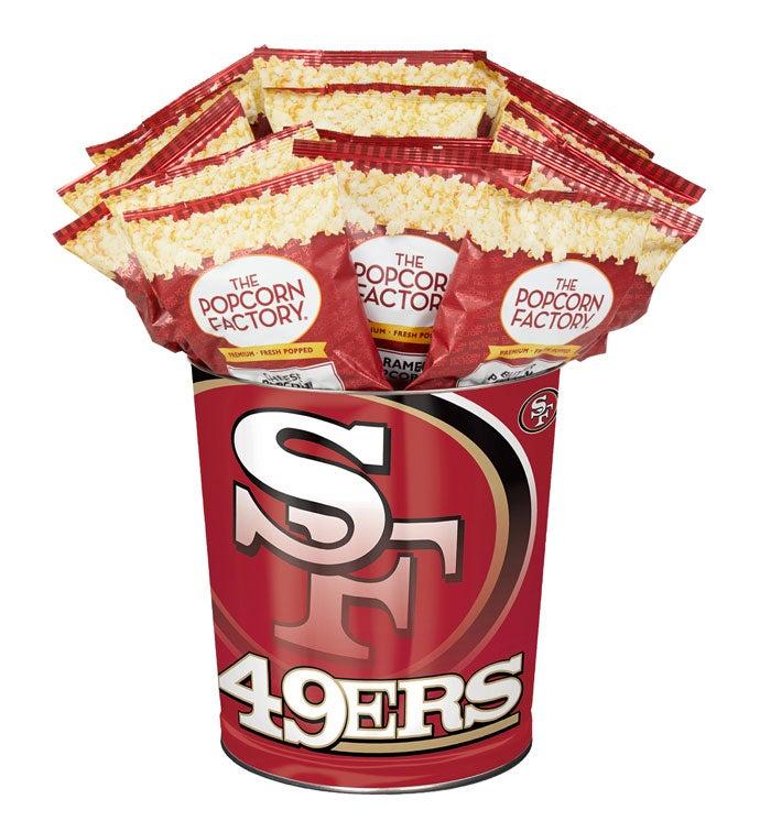 San Francisco 49Ers 3-Flavor Popcorn Tins - 3 Gallon