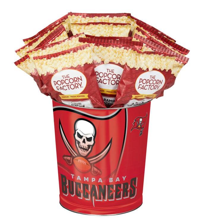 Tampa Bay Buccaneers 3-Flavor Popcorn Tins - 3 Gallon