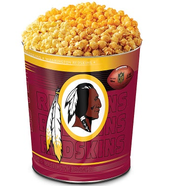 Washington Redskins 3-Flavor Popcorn Tins - 3 Gallon