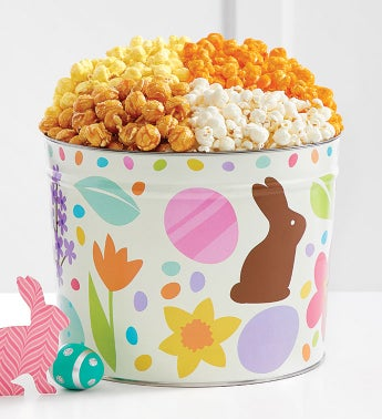 Chocolate Bunny Popcorn Tins