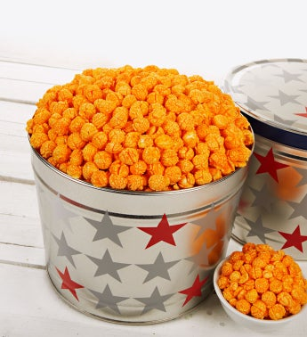 Patriotic Tin of Double Cheese Popcorn