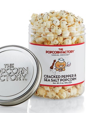 Cracked Pepper & Sea Salt Popcorn