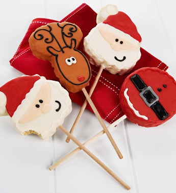 Set of 4 Christmas Crispy Rice Pops