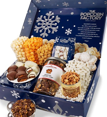 Snowy Night Snacker's Choice Gift Box