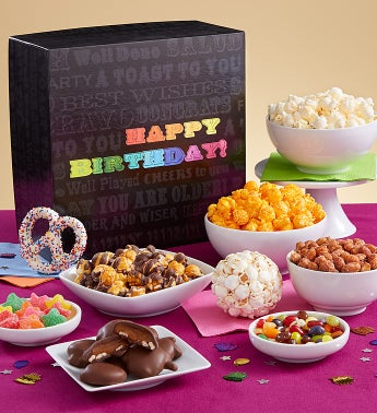 Say It In Color Snack Sampler - Happy Birthday Sampler