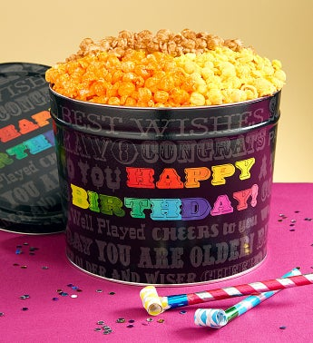 Say It In Color Popcorn Tins & Snack Assortments