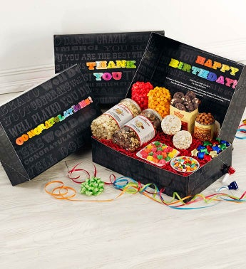 Say It In Color Snacker's Choice Gift Box - Happy Birthday Snacker Choice Box