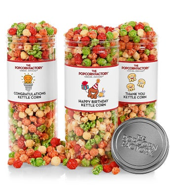 Celebration Canisters - Happy Birthday Kettle Corn