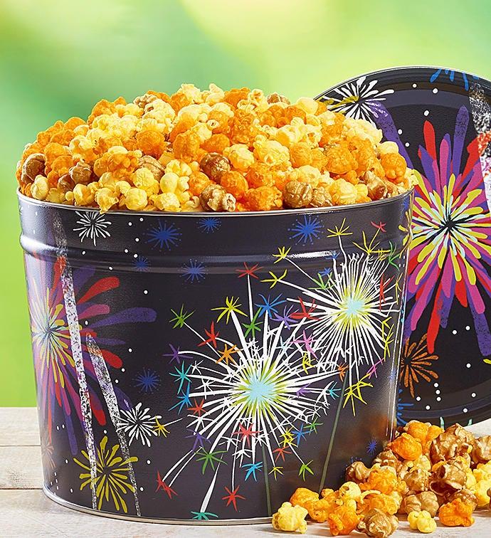Fireworks Popcorn Tin - 2 Gallon 3-Flavor