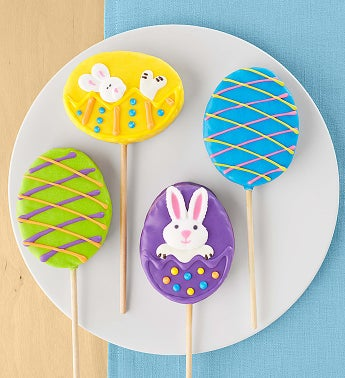 Set of 4 Decorated Easter Crisp Rice Pops