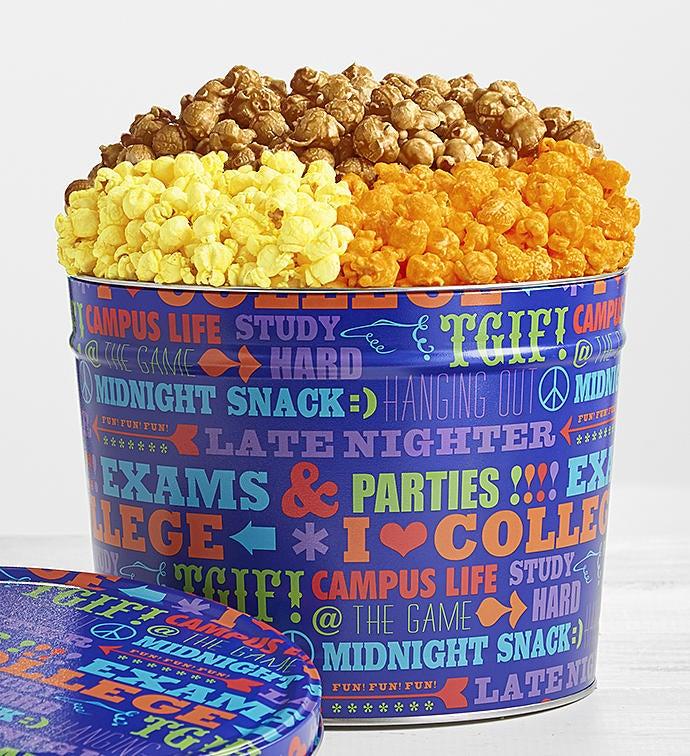 University of Snacks Popcorn Tins