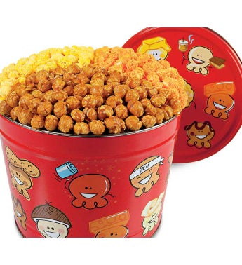 Popcorn Pals™ 3 1/2 Gallon 3-Flavor Tin