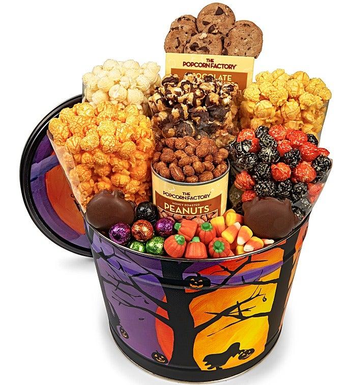 Halloween Spooky Basket.Spooky Halloween Snack Assortment