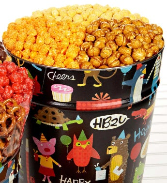 Birthday Animal Popcorn Tin