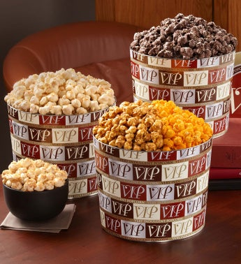 VIP - Very Indulgent Popcorn(tm) Tins