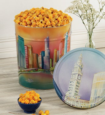 Second City Mix 3 1/2 Gallon Chicago Skyline Tin