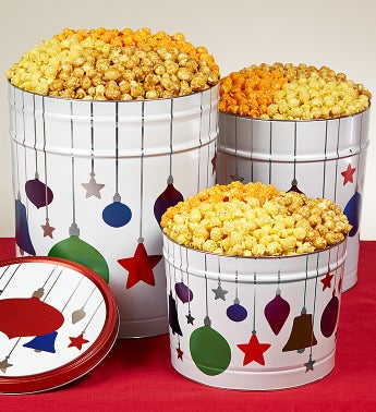 Jewel Ornaments Popcorn Tins