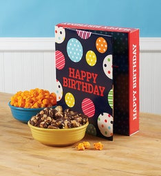Large Popcorn Card - Happy Birthday