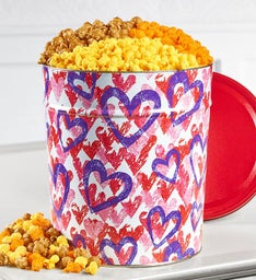 Forever Hearts Popcorn Tins