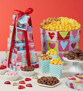 Heart Deco Tin & Tower