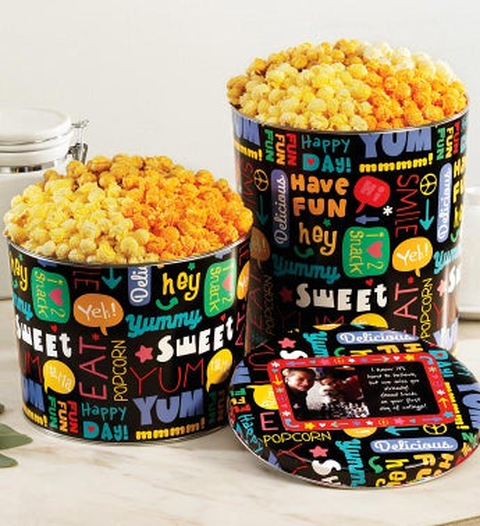 Fun With Snacks Popcorn Tins - 2 Gallon 3-Flavor