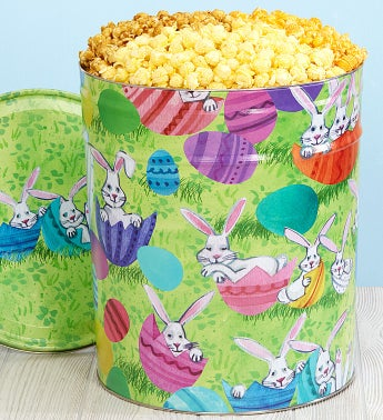 Bunny Patch 6-1/2 Gallon Popcorn Tin