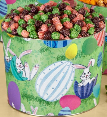 2 Gallon Bunny Patch Pick-A-Flavor Popcorn and Popcorn Eggs